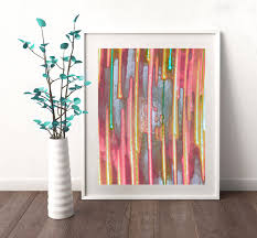 Rainbow Home Decor by 11x14 Print Abstract Art Rainbow Painting Pastel Colors