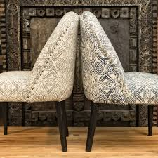 Indian Dining Chairs Indian Print Upholstered Dining Chairs Furniture Burford
