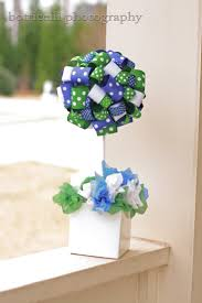 whale ribbon preppy ribbon topiary topiaries centerpieces