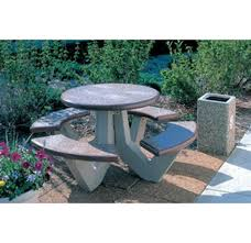 round cement picnic tables round commercial concrete picnic table portable by park tables