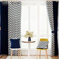 Navy Chevron Curtains Chevron Curtains Chevron Print Curtains Free Shipping