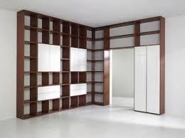 apartment attractive simple design built in bookshelves ideas
