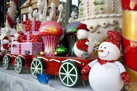 large luxury christmas decoration in outdoor stock photo picture