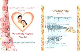 Examples Of Wedding Program A Teacher U0027s Blog Wedding Program