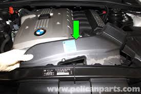 bmw e90 drive belt replacement e91 e92 e93 pelican parts diy