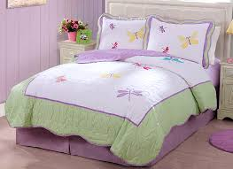 Purple And Green Bedding Sets Purple Green Butterfly Dragonfly Bedding Little Girls Full Queen