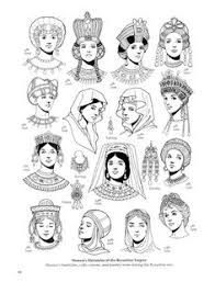 hairstyle books for women byzantine fashion coloring book by tom tierney hairstyles and
