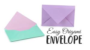Origami With Letter Size Paper - easy origami envelope tutorial diy paper kawaii