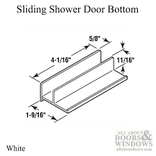 11 16 opening sliding shower door bottom white
