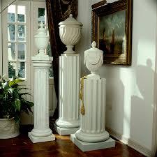 Urn Planters With Pedestal Italian Pedestal Planters Fine Cast Stone Urns Jardinieres