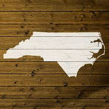 Map Of Nc State by Map Of North Carolina State Outline White Distressed Paint On