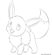 133 eevee pokemon coloring pages printable