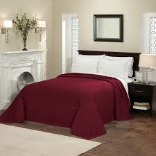 Burgundy Duvet Sets Elegant Solid Dark Red Oversized Bedspread Full Queen King Brick