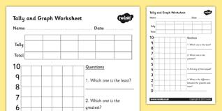 block graphs and tally chart activity sheet template tally