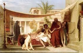 Seeking Painting Jean Gerome Socrates Seeking Alcibiades In The House Of