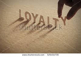 loyalty wood word on compressed board stock photo 525451735