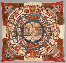 World Map Quilt Cosmological Diagram The World Of Mortals David Rumsey
