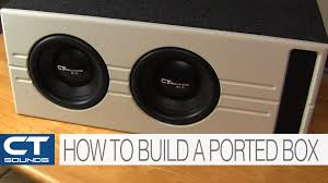 How To Build A Speaker Cabinet Ct Sounds How To Build A Ported Subwoofer Box Youtube