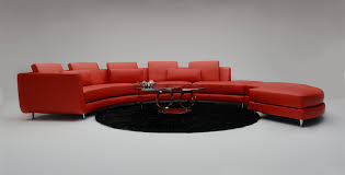 Red Curved Sofa by Living Room Red Leather Curved Sectional Couch With Stylish Back
