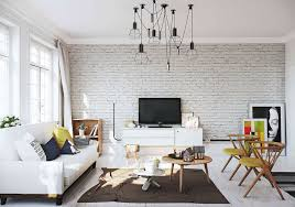 brick wall apartment designs by style white brick wall 3 white apartments in