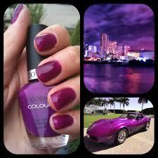 cuccio colour nail polish eye candy in miami great purple