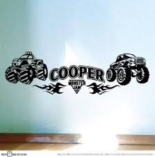 buy large personalised monster truck bedroom car vinyl wall decal