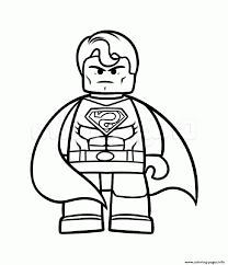 superman vs batman lego coloring pages printable