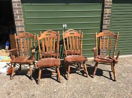 6 wooden chairs for upcycling in ryde wightbay