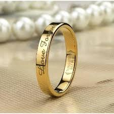 personalized rings for personalized 18k gold filled tungsten lover rings for couples
