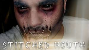stitched mouth ghost halloween makeup tutorial 31 days of
