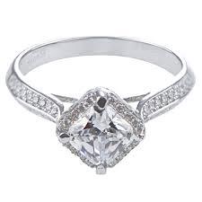 cz engagement ring doreen s princess cut halo cz engagement ring