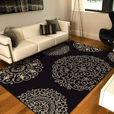 Black Grey And White Area Rugs by Living Room 06 Black Gray White Contemporary Wool Area Rug Brown