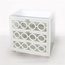 ava white lacquer 3 drawer nightstand by worlds away ava nwh