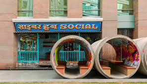 cafe interior design india cyber hub studio upcycled urban cafe in india modeled after