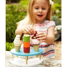 Elc Wooden Toaster Set Buy Elc Wooden Ice Cream Set From Our Toys For 5 8 Years Range Tesco