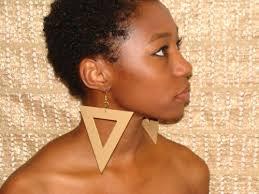 large earrings large triangle shaped earrings artbycleatress on artfire