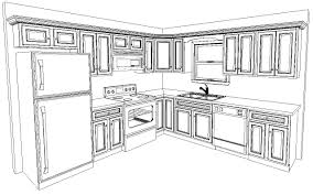 draw kitchen cabinets best kitchen layout drawing images 2as 14434