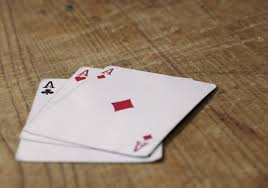 cards on the table free image three aces cards on wooden table libreshot public