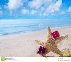 starfish with gifts by the ocean stock photography image 34912262