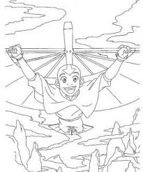 avatar airbender coloring pages coloring pages