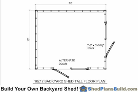 shed floor plans 10x12 backyard shed plans