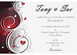 wedding engagement invitation entertain engagement invitation of