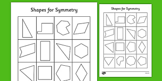 shapes for symmetry worksheet symmetry of 2d shapes activities