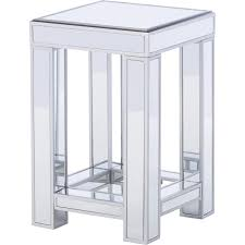 Mirrored Entry Table Furniture Distressed End Tables Mirrored Side Table Brass And