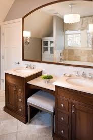 Bathroom Double Sink Vanity by Double Sink Vanity With Makeup Area Bathroom Farmhouse With Arts