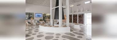 flooring idea u2013 create a fun pattern by painting a concrete floor