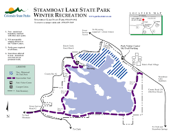 Steamboat Trail Map Steamboat Lake State Park Outthere Colorado