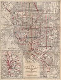 Buffalo New York Map Buffalo U0027s 180 Year Streetcar History Linked To The City U0027s Changing
