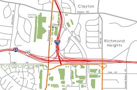 St Louis Galleria Map Interstate 170 Aaroads Missouri