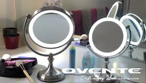 Makeup Mirror Lighted Ovente Mgt95br Dimmable Led Lighted Tabletop Vanity Mirror Youtube